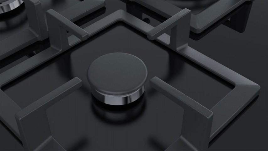Siemens EP7A6QB20 75 cm Wok Gözlü Siyah Cam Ankastre Ocak