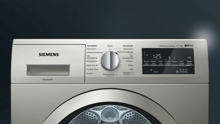 Siemens WT45W41STR 8 Kg A++ Isı Pompalı Kurutma Makinesi