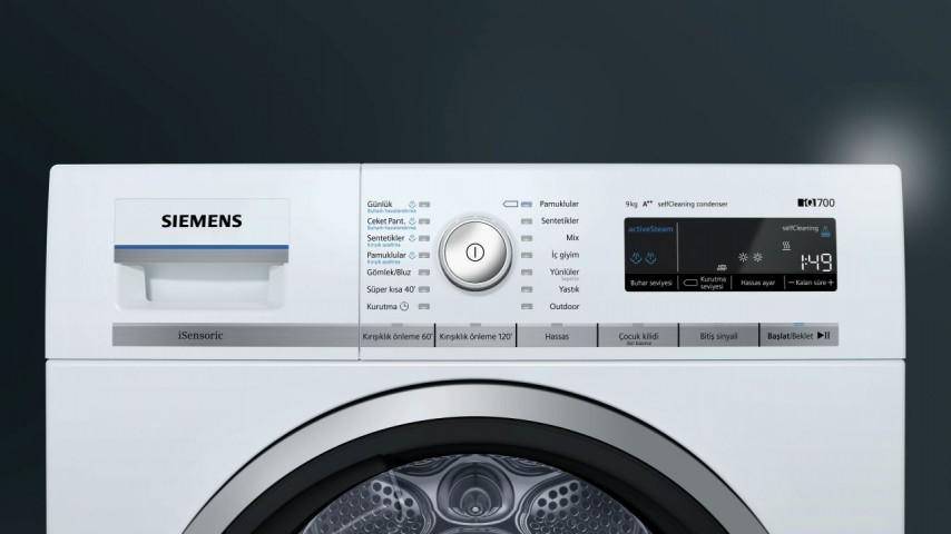 Siemens WT45W562TR 9 kg A++ Isı Pompalı Kurutma Makinesi