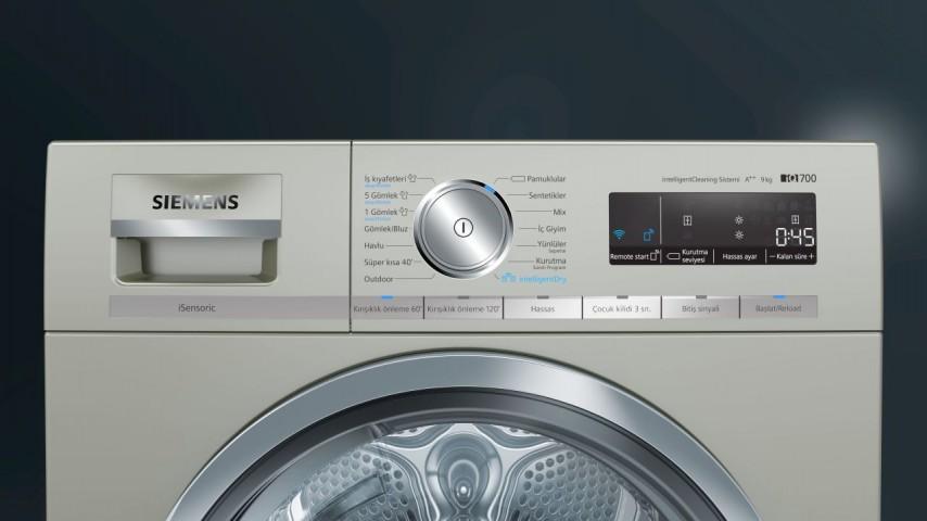 Siemens WT47XK8XTR 9 kg A++ Isı Pompalı Kurutma Makinesi